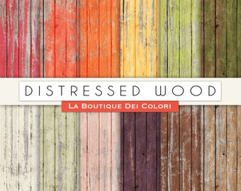 "Wood Digital Paper: "" Distressed Wood Digital Paper "" distressed wood texture, wood printables, wood background, commercial use"