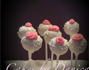 Rose Cake Pops (1 Dozen)