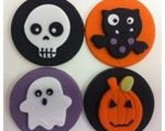 Halloween Cupcake Toppers (Fondant)