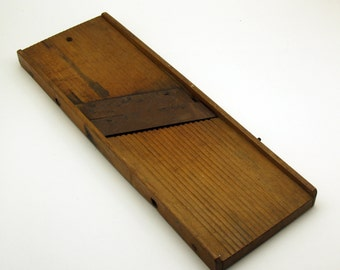 Vintage Wooden Mandolin Kraut Slicer Cabbage Cutter