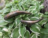 Koi Sculpture stainless steel Garden Fish handmade welded metal patina outdoor zen garden art decor lawn art