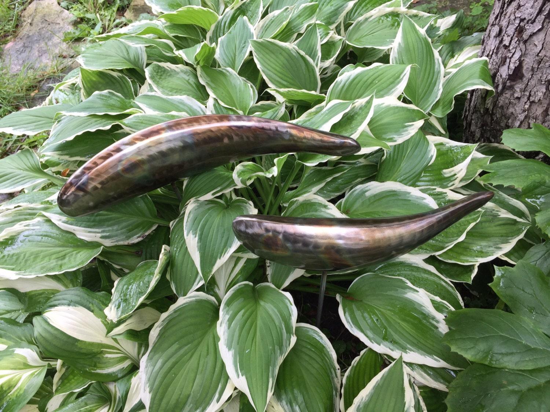 Koi sculpture stainless steel garden fish by for Garden fish