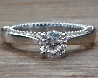 Sterling Silver 925 1ct solitaire engagement ring