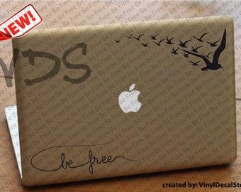 MAC MACBOOK Laptop Vinyl Decal Sticker Be Free