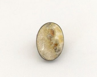 Vintage Old Pawn Sterling Silver Jasper Ring Size 5.5