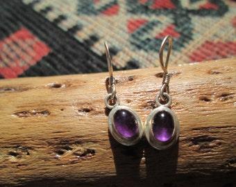 Amethyst and Sterling Dangle Earrings