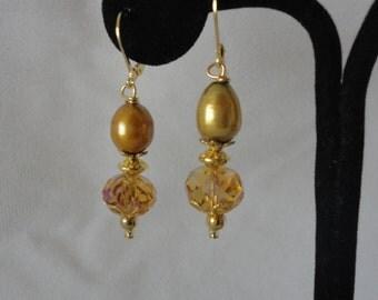 Flawless Fresh Water Pearls Crystal Earrings*****.