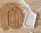 TARDIS cookie cutter,  Doctor Who cookie stamp