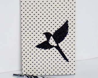 Notebook glitters black pie ( 3,94 x 5,90 inches)