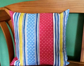 Striped pastel striped polka Dot pillow covers