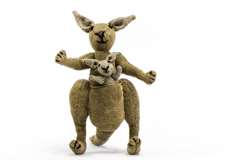 Kangaroo Knitting Pattern : KNITTING PATTERN, Kangaroo Knitting Pattern, Toy Knitting Pattern, Australian...