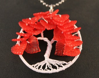 """Made to order """"Weirwood"""" Game of Thrones Inspired Tree of Life Pendant"""