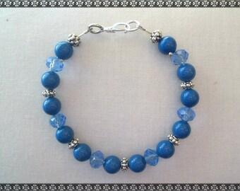 blue bracelet, dark blue bracelet, crystal bracelet, Swarovski bracelet, swarovski