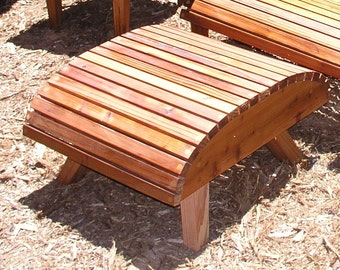 Modern Adirondack Chair Ottoman Only, Reclaimed Redwood, Mountain Modern, Eames Lounge Chair, Mid Century Patio Furniture.