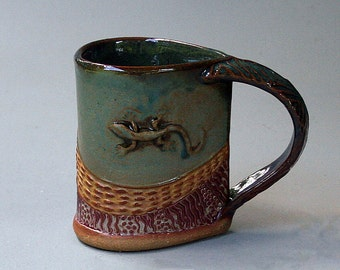 Salamander Mug, Hand-built Stoneware
