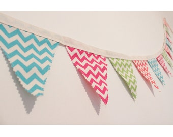 Chevron Bunting - Chevron Garland - Chevron Flags - Nursery Bunting - Party Bunting - Wedding Bunting