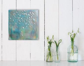 Sweet Showers (Encaustic Painting)