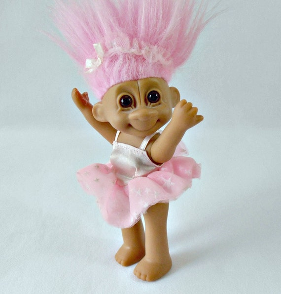 Vintage Russ Tracey Troll Doll Collectible Troll Pink