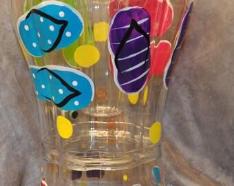 Painted Flip Flop 3.5 Gallon Beverage Dispenser