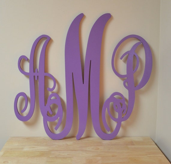 Large Wooden Letters For Wall Decor : Large wooden monogram wall decor letters door