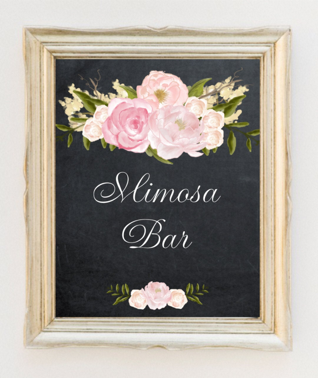 It is a graphic of Shocking Mimosa Bar Sign Printable