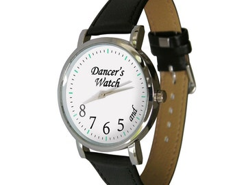 Dancers Watch. and 5 6 7 8 - a great gift. Genuine leather strap.