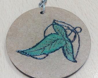 Leaf of Lothlorien Keyring