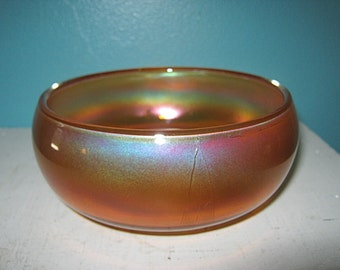 Vintage Carnival Glass Bowl, Marigold Color, Small Round Bowl