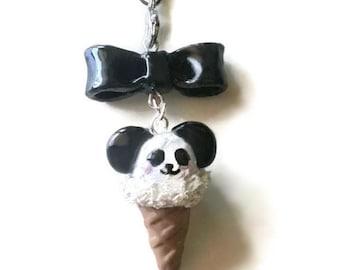 Panda Ice Cream Cell Phone Charm
