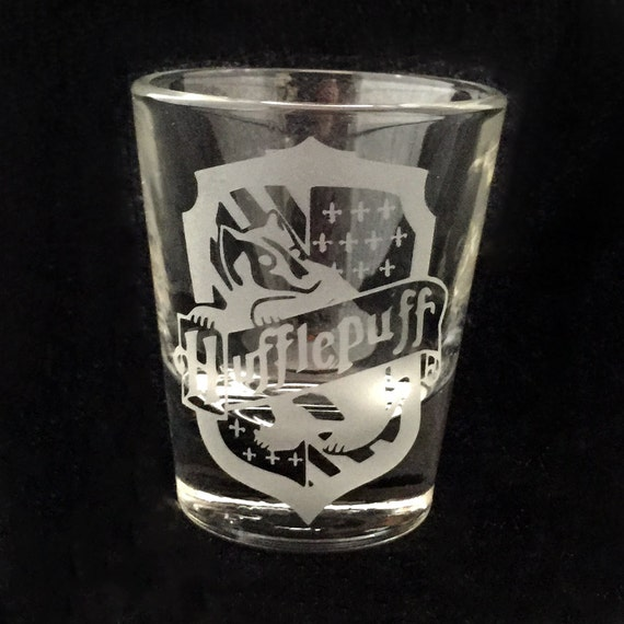 Fan Art Harry Potter Hufflepuff Inspired Custom Etched Shot