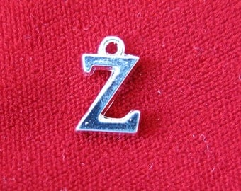 "BULK! 30pc ""Z"" charms in silver style (BC691B)"