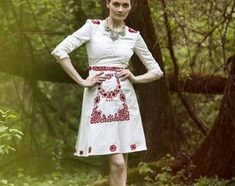 Ivory satin short dress
