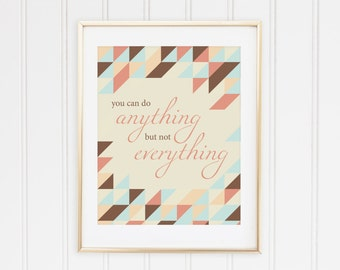 Printable DIY Art - You Can Do Anything (8x10) - Instant Download