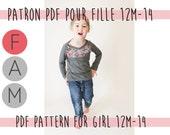 PDF Pattern of the Extraordinary Girl shirt-Girl Edition