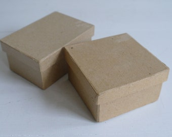 2 Paper Mache Boxes