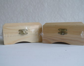 Two Wooden Craft Boxes - Treasure Chests