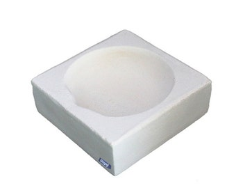 """Square Crucible 4"""" Melting Casting Dish For Jewelry Gold Silver Scrap Wa 365-525"""