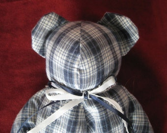 Small Blue and White Bear