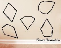 Gem Cut Decals. Geometric Wall Decor. Vinyl Decals. Diamond Decals. Wall Decal. Living room wall decal. Wall sticker. Home decor decals.