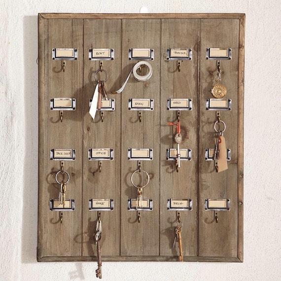 Reclaimed wood hotel key rack by secondchancez on etsy - Vintage hotel key rack ...