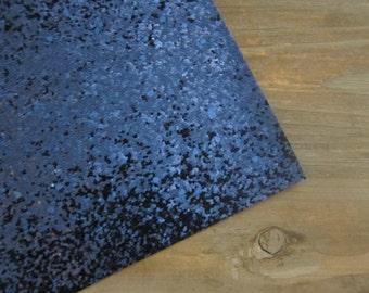 Glitter Fabric Material Midnight Blue 8X10 sheet