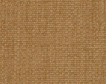 Fine Basket Weave Upholstery Fabric in Tan