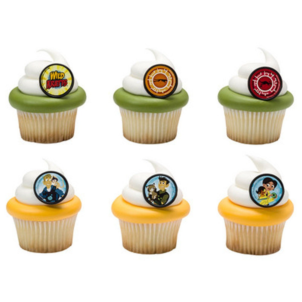 24 Wild Kratts Cupcake Rings Cake Decor Toppers