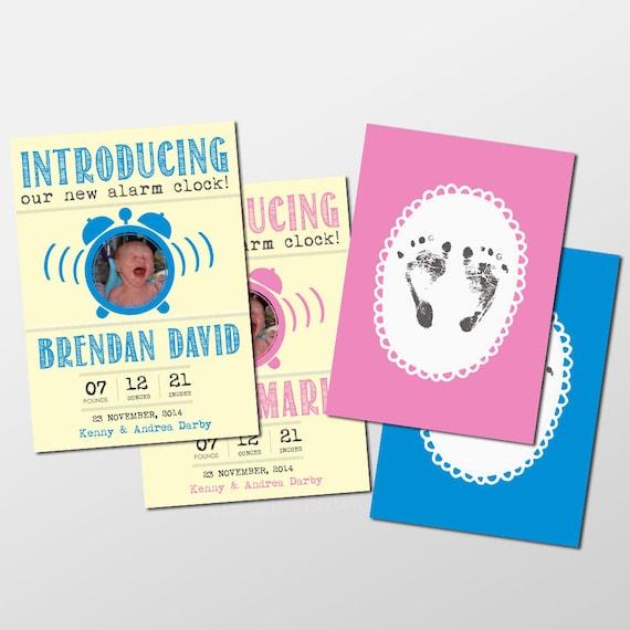Funny Custom Baby Boy Girl Photo Birth Announcement Funny Baby – Printed Birth Announcements
