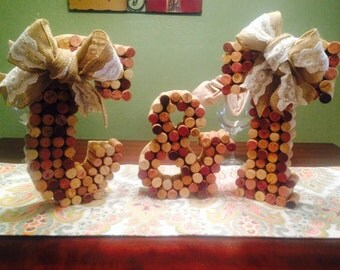 Wedding Cork Sign - Initials with Ampersand