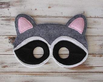 Raccoon Mask, Animal Mask - Costume, Halloween - Woodland, Dress Up, Pretend Play