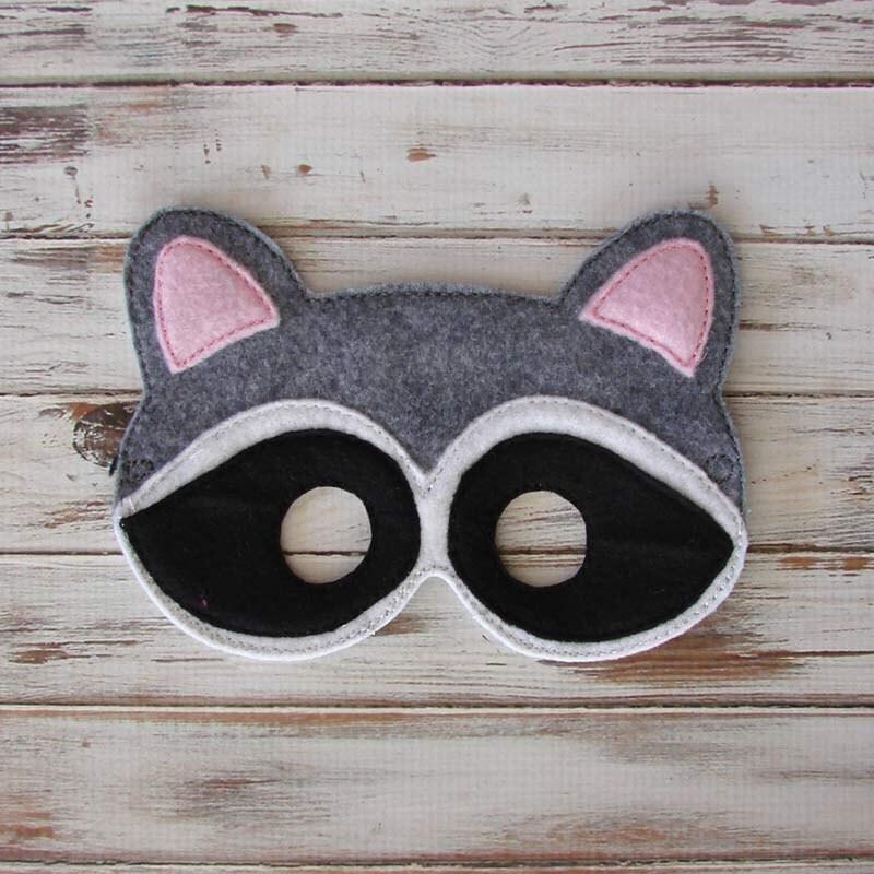 Raccoon Mask Animal Mask Costume Halloween Woodland Raccoon Eye Mask