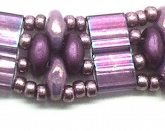 Unique Alice Bracelet in Shades of Lilac