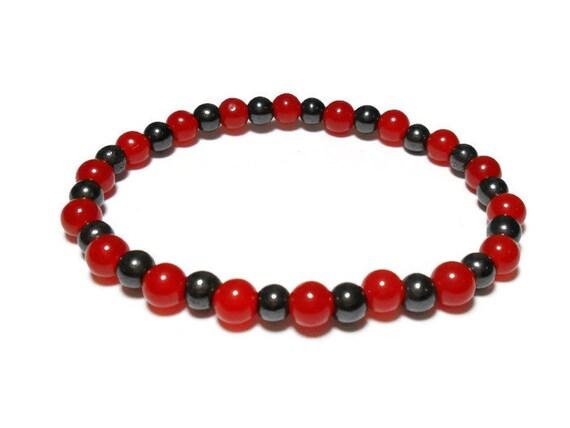 Red Hematite Beads Hematite and Re...