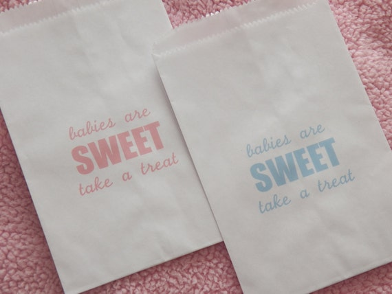 25 baby shower favor bags babies are sweet take a treat candy buffet